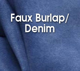 Faux Burlap/Denim