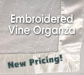 Embroidered Vine Organza